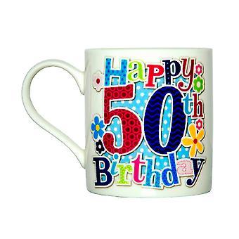 Simon Elvin Happy 50th Birthday Female Milestone Mug