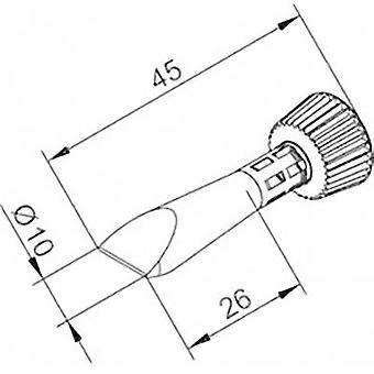 Ersa 0102CDLF100C/SB Soldering tip Chisel-shaped Tip size 10 mm Tip length 45 mm Content 1 pc(s)