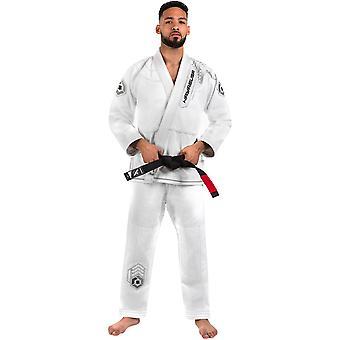 Hayabusa oro tessire guerriero Premium Jiu-Jitsu gi - bianco