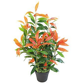 80cm Pflanzen künstliche rote und grüne Ficus