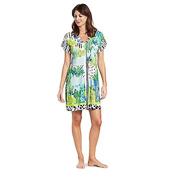 Féraud 3195323-16526 Women's Voyage Sealeaves Blue Kaftan Beach Dress