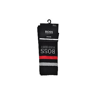 雨果 老板 黑色 雨果 老板 Qs 肋条纹 袜子 黑色