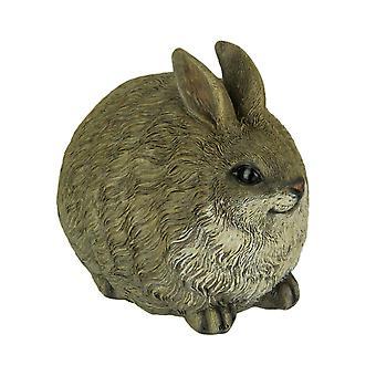 Brown Chubby Bunny Rabbit Indoor Outdoor Statue Small