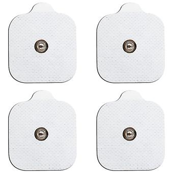MED-FIT 5x5cm Pack von 12 Flexi Stim 3,5mm Stud TENS Self-Adcve Pads