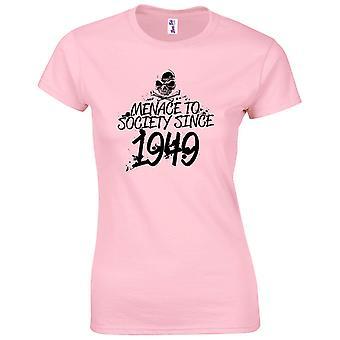 70 års fødselsdag gaver til kvinder hendes trussel mod samfundet 1949 T-shirt