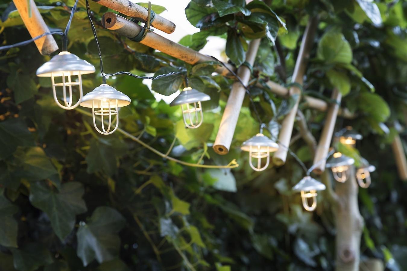 LED LOVERS Denver , Garden Solar Lantern Chain  , Strips of 10 Solar Energy LED Lights Deco Fairy Lights Parties, Receptions, Weddings