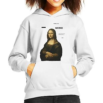 A.P.O.H Leonardo Da Vinci Mona Lisa Masterpieces Quote Kid's Hooded Sweatshirt
