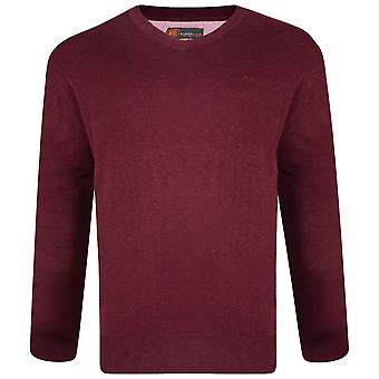 Kam Jeanswear Mens V-Neck Knit Jumper
