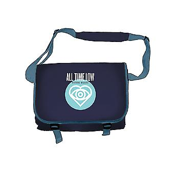 All Time Low Bag Future Hearts band logo new Official Blue Messenger Bag All Time Low Bag