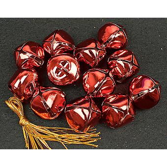 12 Red 35mm Jingle Bells for Crafts & Christmas Tree Decorating | Craft Bells