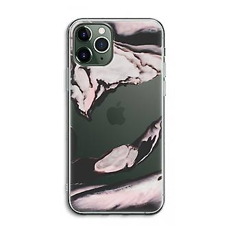 iPhone 11 Pro Max Transparent Case (Soft) - Pink stream