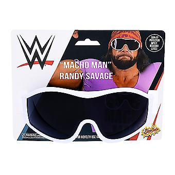 Costumes de fête - Sun-Staches - Macho Man White Frame Black Lens sg3334