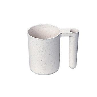 Mug with room for toothbrush