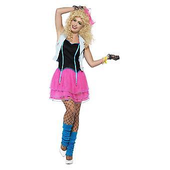 Disfraz chica salvaje mujeres de los años 80