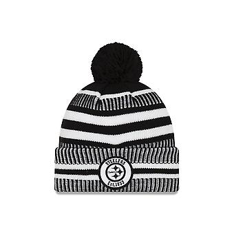 New Era Nfl Pittsburgh Steelers 2019 Sideline Home Black/white Sport Knit