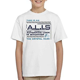 The Crystal Maze ALIS Automatic Lock In Situation Kid's T-Shirt