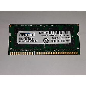Apple zertifiziert entscheidende 4GB Kit (4GBx1) DDR3/DDR3L 1600 MT/s (PC3-12800) SODIMM 204-polig Mac Speicher CT4G3S160BM. M16FKD