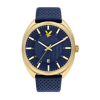 Lyle & Scott ls-6015-04 mannen ' s tevio blauwe wijzerplaat horloge