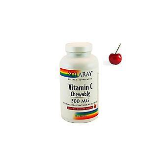 Solaray Vitamin C 500 Mg Taste Cherry 100 Chewable Tablets
