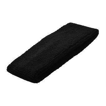 Plain Black Towelling Headband