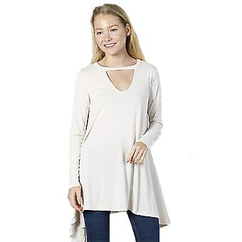 Women's Casual Peep Front Fit Blouse