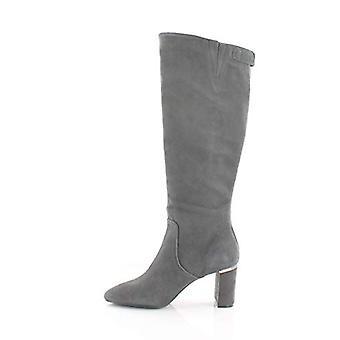 Alfani dame Nessii læder lukket tå knæ høje mode støvler