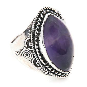 Ring Silber 925 Sterlingsilber Amethyst lila Stein (Nr: MRI 128)