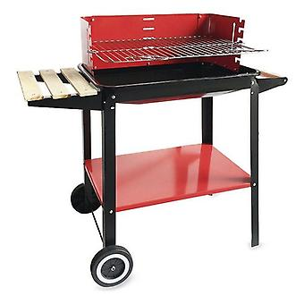 Algon Black Red Charcoal Barbecue Wheels (58 x 38 x 72 cm)