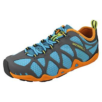 Mens Merrell Lace Up Sporty Trainers Aquaterra