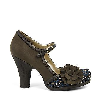 Ruby Shoo Hannah Olive High Heel Mary Jane