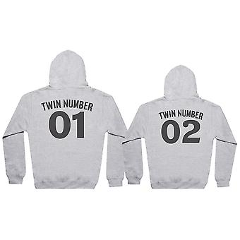 Twin Number 1, Number 2 - Twin Set - Mens & Womens Hoodies - (Sold Separately)