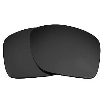 Replacement Lenses for Oakley Turbine Sunglasses Dark Black Iridium Anti-Scratch Anti-Glare UV400 by SeekOptics