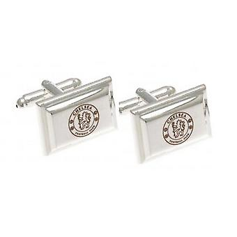 Chelsea FC Official Silver Plated Football Crest Cufflinks