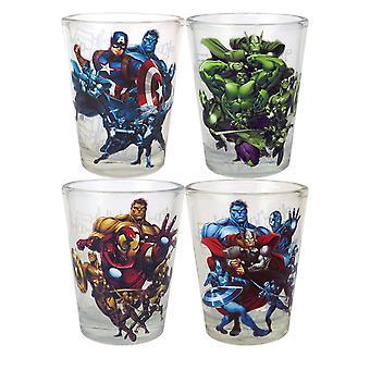 Avengers Mini Glass 4-Pack