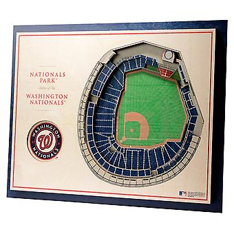 YouTheFan lemn decorare perete Stadionul Washington resortisanți 43x33cm