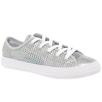 Converse All Star Oxford Girls zapatos de lona de encaje para jóvenes