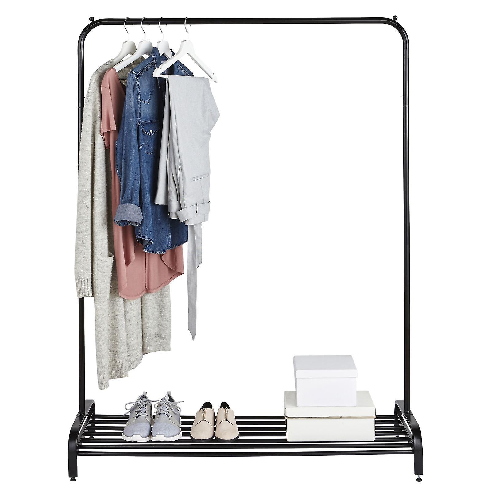 Clothes Rail In Black Powder Coating