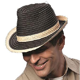 Miesten pieneen pakkautuva olki & kangas kesän muoti Trilby aurinko hattu