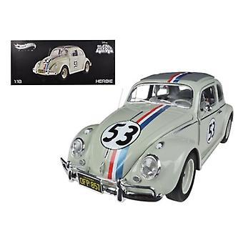 1963 Volkswagen Beetle \The Love Bug\ Herbie #53 Elite Edition 1/18 Diecast Car Model by Hotwheels
