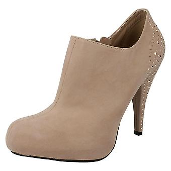 Ladies Spot On Ankle Boots Style- F50065