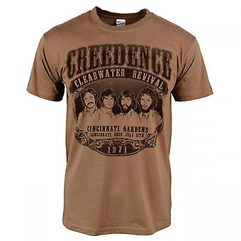 Creedence Clearwater Revival Mens Creedence Clearwater Revival 1971 T-Shirt Brown