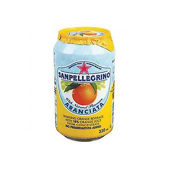 San Pellegrino Aranciata Cans -( 330 Ml X 6 Cans )