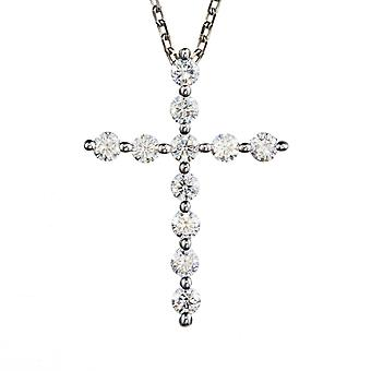 Forever One 2.5mm Redondo Moissanite Cross Collar, 0.66cttw DEW