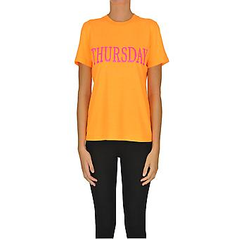 Alberta Ferretti Ezgl095032 Dames's Oranje Katoen T-shirt