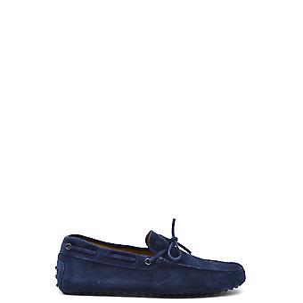 Tod's Ezbc025096 Men's Blue Suede Loafers