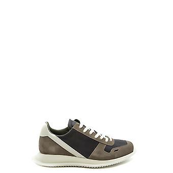 Rick Owens Ezbc436002 Men's Brown Suede Sneakers