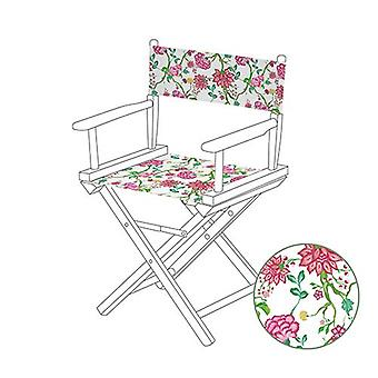 Gardenista® Chintz White Design Replacement Directors Chair Canvas Cover