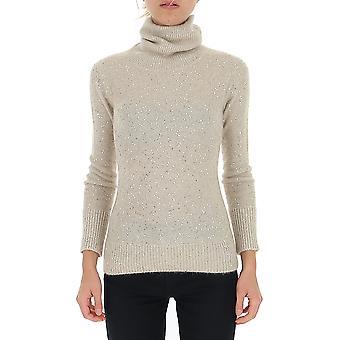 Fabiana Filippi Mad129b100b1080101 Women's Beige Wool Sweater