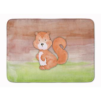 Squirrel Watercolor Machine Washable Memory Foam Mat