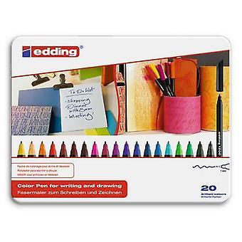 edding-1200 tyłek. colorpen 20PC 0,5-1 mm / 4-1200-20